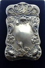 Vesta Case Antique Art Nouveau F.S. Gilbert USA Match case c1890 Sterling silver