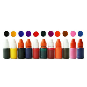 10 ML Self-inking Ink Photosensitive Rubber Stamp Deskmate Refilling Colorful