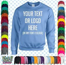 Custom Personalised Unisex Printed SWEATSHIRT Jumper Name Workwear-Yr text/logo6