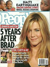 People Magazine February 1 2010 Jennifer Aniston Haiti Tragedy Brittany Murphy