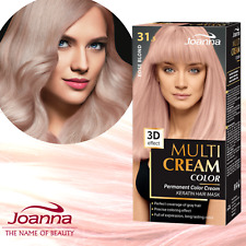 Joanna Hair Dye Colour Cream Rose Blond Toner Permanent Hair Dye Box PASTEL PINK