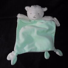 CARTER'S BABY LAMB SECURITY BLANKET RATTLE PACIFIER HOLDER STUFFED ANIMAL PLUSH