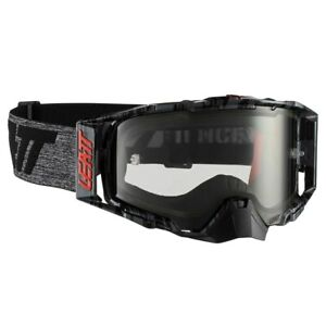 LEATT VELOCITY 6.5 TEAR OFF GOGGLES BRUSHED GREY WITH LIGHT GREY LENS MOTOCROSS