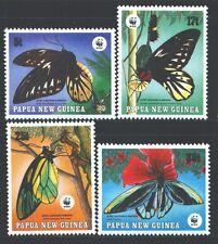 PAPUA NEW GUINEA 697-700 SG579-82 MNH 1989 WWF Butterflies set of 4 Cat$16