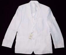 Murano Baird McNut Solid Linen Men's Blazer Coat Jacket White Sz L NEW $195