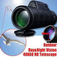 Monocular Spotting Scope BAK4 Telescope Waterproof With Tripod & Phone Adapter