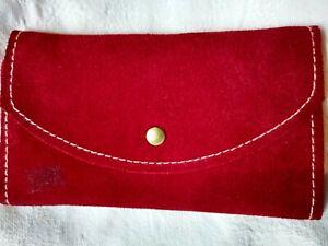 Vintage Colorful Color block Leather Suede Coin Purse