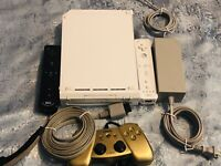 Nintendo Wii Console -White - GameCube compatible- TESTED - 2 Wii mote - cords -
