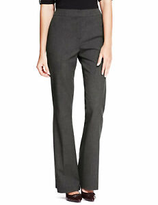 Ex Marks & Spencer  CHARCOAL Stretch Side Pockets Bootleg Trousers (1)
