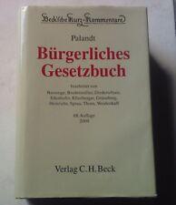 BGB Kommentar Palandt Beck 2009 Bürgerliches Gesetzbuch 68. Auflage
