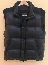 Roberto Cavalli Mens Black Padded Vest With Hood - Size 50