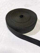 2 Inch 20 Yards Black Heavy Nylon Webbing Strap roll