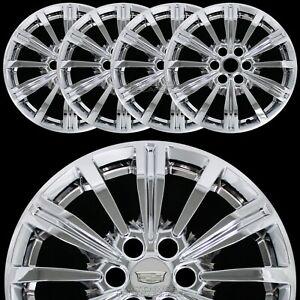 "4 fit 2017 2018 19 Cadillac XT5 18"" Chrome Wheel Skins Hub Caps Alloy Rim Covers"