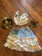 """NEW /""""CORAL /& BLUE FLOWER/"""" Skirt Girls Clothes 18m Summer Boutique Baby Sesame St"""