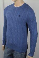 Polo Ralph Lauren Men's Purple Cotton Cableknit Crewneck Sweater Size XL