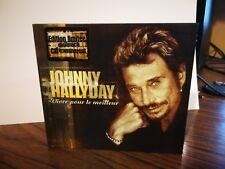 """JOHNNY HALLYDAY  CD édition limitée """" Vivre pour le meilleur """""""