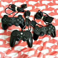 Lot of (3) PS2 Playstation 2 controllers. OEM & 3rd Party - Works - See Desc