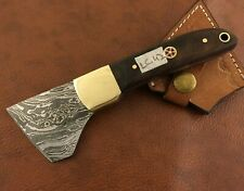 Handmade Damascus Steel Saddlers-Leather Cutter-Workers Tool-LC42