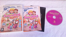 JUEGO COMPLETO BABBYSITTING PARTY BABBY SITTING NINTENDO WII PAL ESPAÑOL.