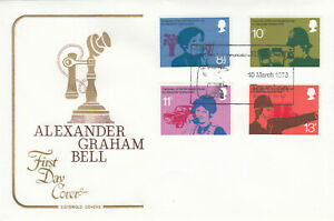 (53364) GB Cotswold FDC Telephone Alexander Graham Bell Taunton 1976