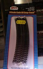 ATLAS 2510 CODE 80 N SCALE NICKLE SILVER 9-3/4 RADIUS SECTION 6PCS NEW