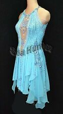 U4230 sky line Ballroom women chacha Latin samba swing dance dress Custom made