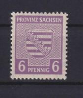 SBZ 76 Xb 6 Pfg. seltene Farbe rötlichgrauviolett postfrisch gepr. Ströh (xs214)
