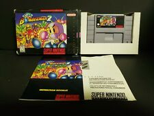 Super Bomberman 2 (Super Nintendo Entertainment System, 1994) SNES Complete Box
