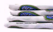 2.5 Yd Cotton Voile Paisley Hand Block Print Fabric Natural Dyes Sanganer Indian