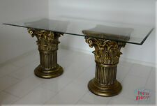 Griechischer Säulen Esstisch Wohnzimmertisch Tisch Glastisch Säule Antik 180 cm