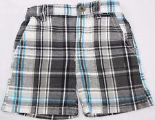 Baby Boy Hurley 3-6 Mo Shorts Grey Turquoise Plaid
