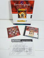 EarthSiege 2 PC Big Box Computer Game Complete Vintage CD Windows Sierra