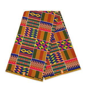 African print Kente fabric KENTE CLOTH KT-3082 Kitenge Ghana fabric by the yard