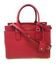 Kate Spade Cameron Medium Satchel Crossbody Bag Handbag Red Rosso WKRU5851 $369