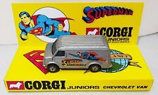 Corgi Juniors SUPERMAN Chevrolet Van Diecast Model Car & Custom Display [b]