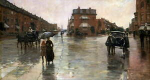 Childe Hassam Rainy Day Poster Reproduction Paintings Giclee Canvas Print