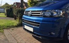 VW T5 09-15 Front Bumper Lower spoiler lip Valance addon Splitter Chin Cup Bus