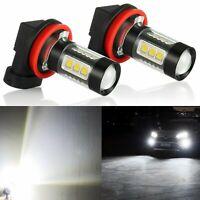 JDM ASTAR 2x 80W H11 Super Bright LED Foglight Kit High Power Bulbs 6500K White