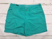 COLUMBIA OMNI-SHADE Sun Protection Women's Green RUNNING HIKING Shorts Size 6