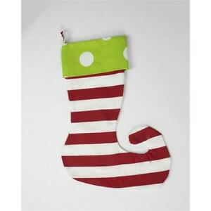 Caught Ya Lookin' S71-206-204 Elf Stocking Green Oxygen With Red Stripe