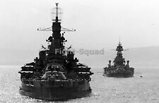 WW2 Picture Photo 1944 USS Nevada and USS Texas in Northern Ireland 2425
