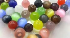 50 pieces 8mm Cat's Eye Beads marble- Assorted Mixed - A3740