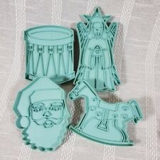 Retro Blue Plastic Stanley Home Products Christmas Holiday Cookie Cutters 4