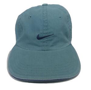 Nike Vintage Youth Child Baseball Cap Hat Cotton Canvas Aqua Blue Adjustable
