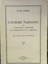 L'AURORE NAISSANTE.JACOB BOHME.1927.