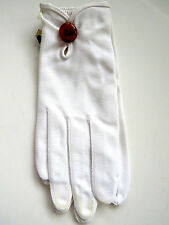 Vintage White Gloves by Crescendoe - Never Used Original Tags - Size 7 Nylon