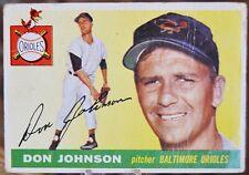 1955 Topps Baseball Card, #165 Don Johnson, Baltimore Orioles - VG