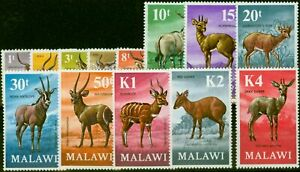 Malawi 1971 Antelopes Set of 13 SG375-387 Very Fine MNH