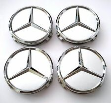 4 PCS 75mm/3 INCH WHEEL CENTER CAPS for MERCEDES BENZ A C E S G Class CLK ML AMG
