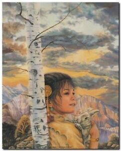 Cottontail - Indian Maiden Child Native American Wall Decor Art Print (16x20)